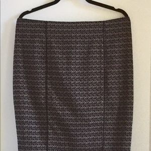 Mossimo Black Brown Pencil Skirt Size 16